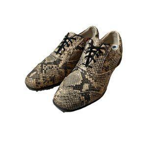 FootJoy LoPro womens snake print golf shoes-sz 7M